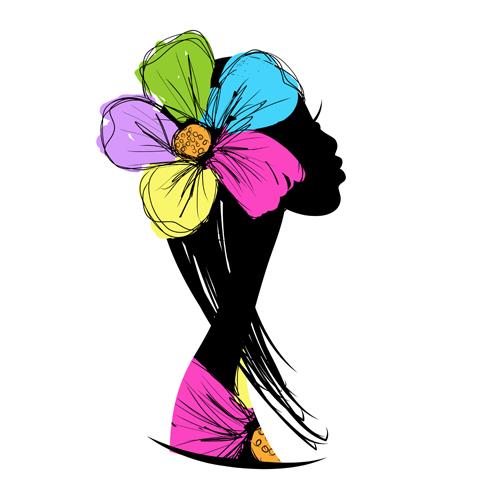 Цветочные силуэты
