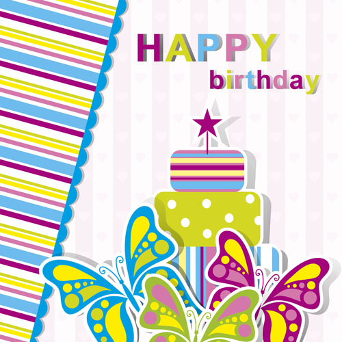 Happy Birthday Elements Card Vector 03 Free Vector Downloads Site