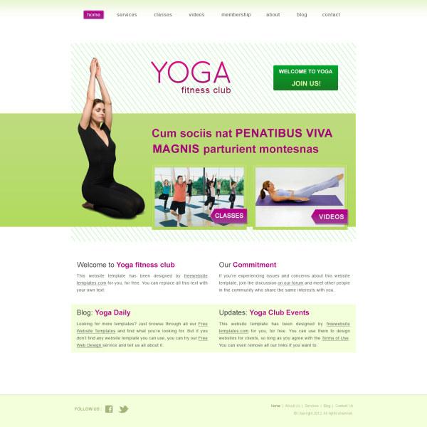 ヨガ ウェブサイト psd テンプレート 無料ベクター素材サイトのサシアゲル