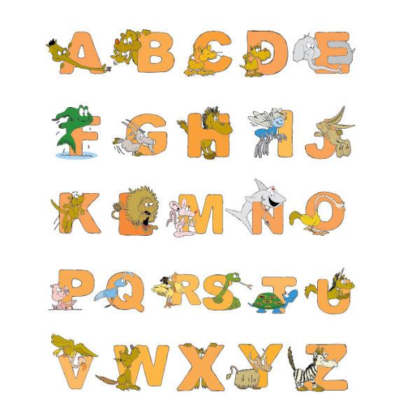 Vector Animal Alphabet Letters