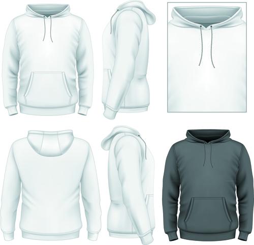男性 衣服 デザイン テンプレート ベクター セット 04 無料ベクター