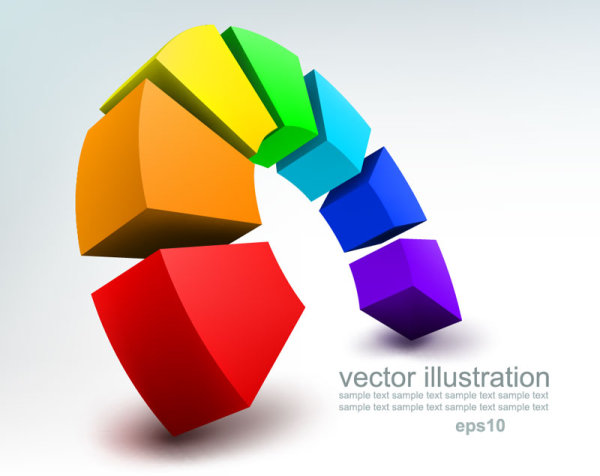 Concept 3d vector background graphics 02 | free vector downloads.