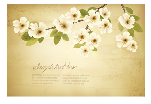 Spring white flowers with vintage background 01 free vector spring white flowers with vintage background 01 free vector downloads site give mightylinksfo