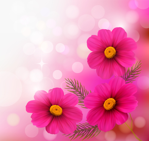 Pink free vector downloads site give pink flower with halation background art mightylinksfo