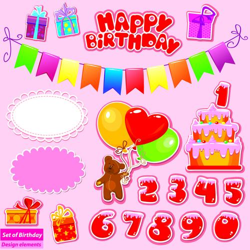 Happy Birthday Gift Cards Design Vector 04 Free Vector Downloads